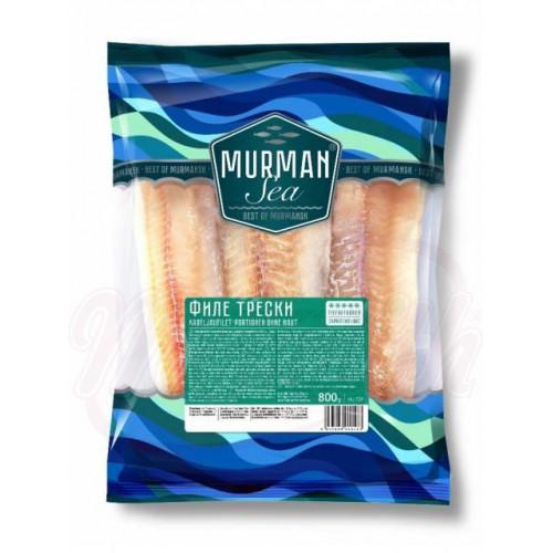 Cod fillet, frozen, glazed, each frozen individually, 800g