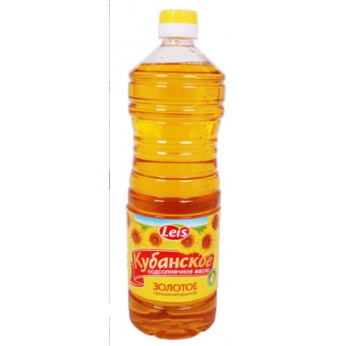 "Sunflower oil ""Kuban"" Golden unrefined, 1l"