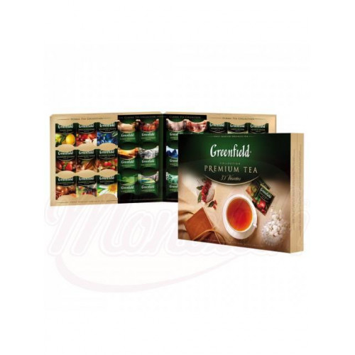 Set of 30 different types of Greenfield tea - 120 tea bags