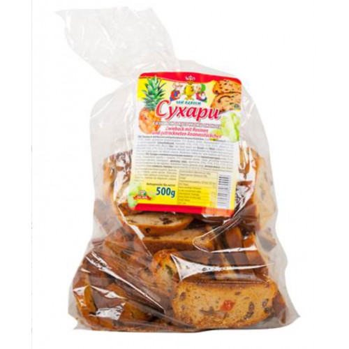 Rusks with raisins and pineapple 500g