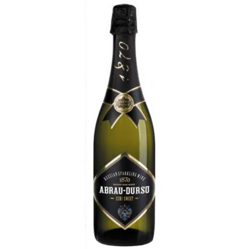 """Sparkling wine """"Abrau Durso"""" semi-dry white, 0.75l"""
