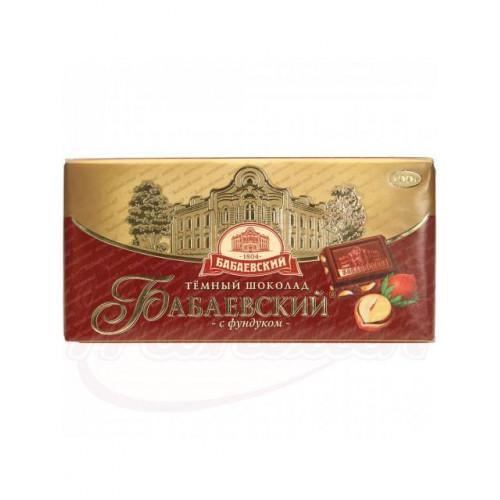 """Dark chocolate """"Babaevsky"""" with hazelnuts 100g"""