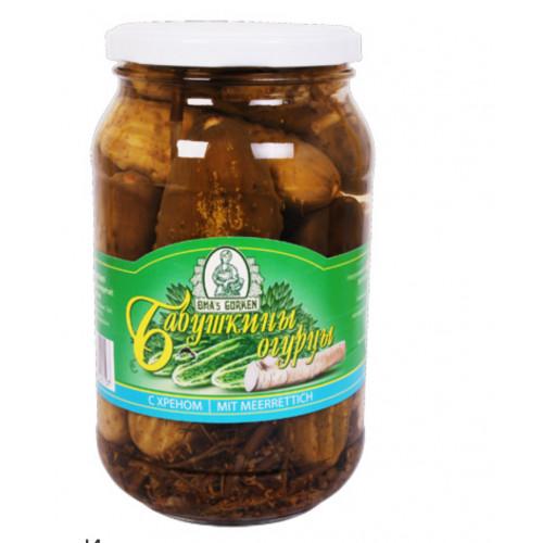 Grandma's cucumbers with horseradish 900ml