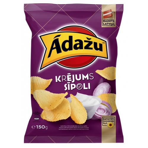 "Чіпси Аdazu ""Cметанa і цибулю"", 150г"
