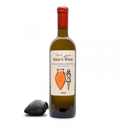 Georgian orange dry wine Baia's Three grapes Tsitska - Tsolikouri - Krakhuna