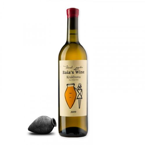 Грузинське біле сухе вино Baia's Krakhuna