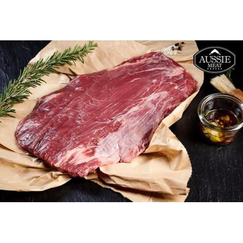 Flank steak from Black Angus beef, Australia, price per 1kg