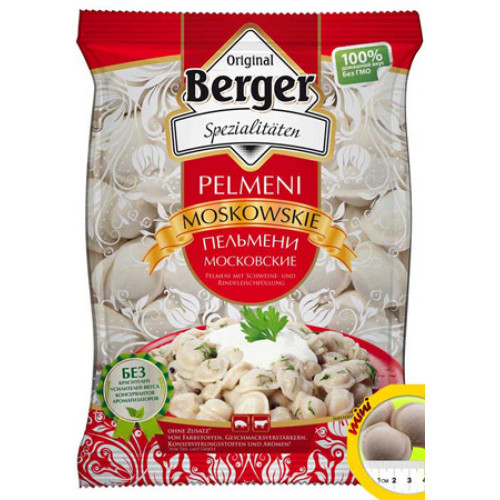 Berger Moscow dumplings from pork and beef, 900g