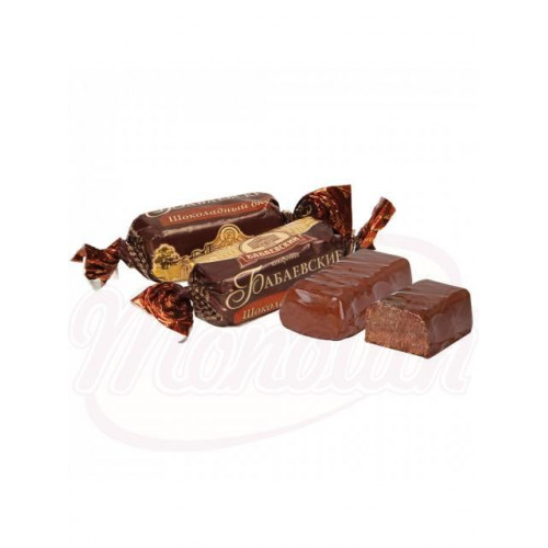 "Candies ""Babaevskie"" with chocolate flavor in cocoa-containing glaze, 300g"