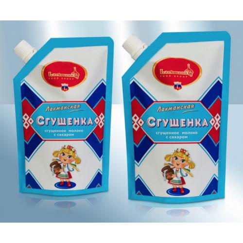 Condensed milk with sugar in a bag, 250g