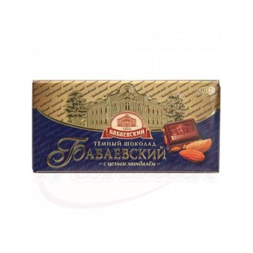 "Шоколад темный ""Бабаевский"" с целым миндалем, 100г"