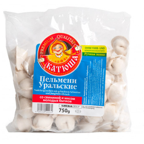 """Dumplings Katyusha """"Ural"""" from pork and beef, 750g"""