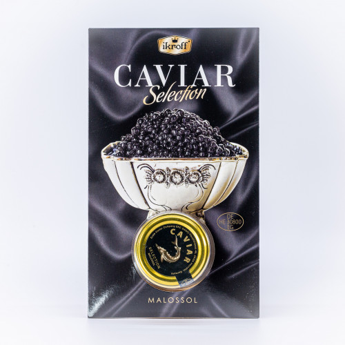 Black sturgeon caviar Ikroff, 25g