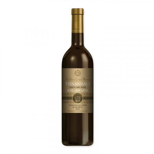 Грузинское белое сухое вино Kakhuri Gvinis Marani Tsinandali