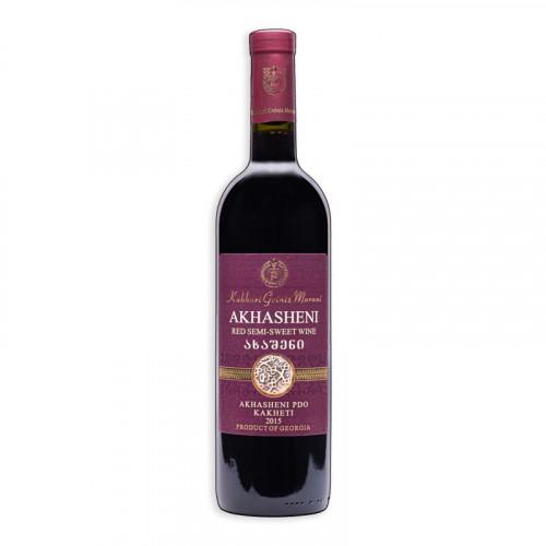 Georgian semi-sweet wine Kakhuri Gvinis Marani Akhasheni, 0.75l