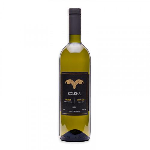 Dry white Georgian wine Kolkha Mtsvane 2016, 13% alcohol, 0.75l