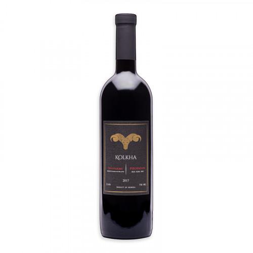 """Грузинское красное полусухое вино """"Kolkha Pirosmani"""""""