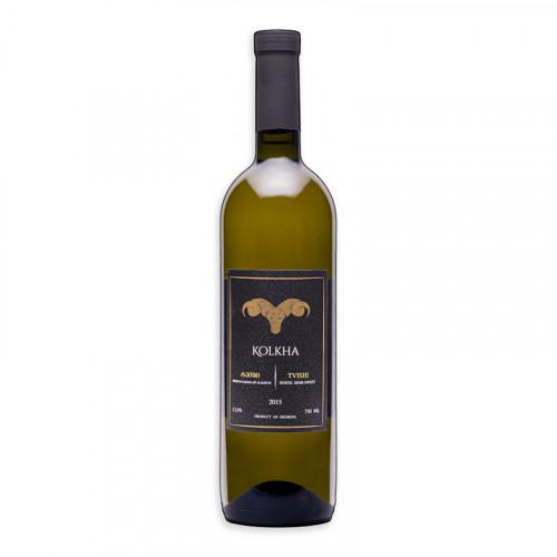 Georgian semi-sweet white wine Kolkha Tvishi