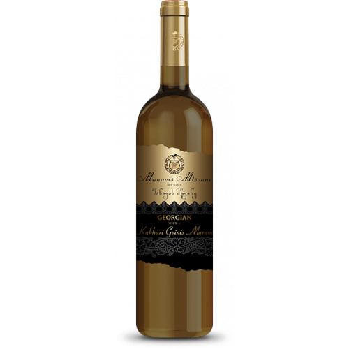 Georgian white dry wine KGM Manavi Mtsvane, 750ml