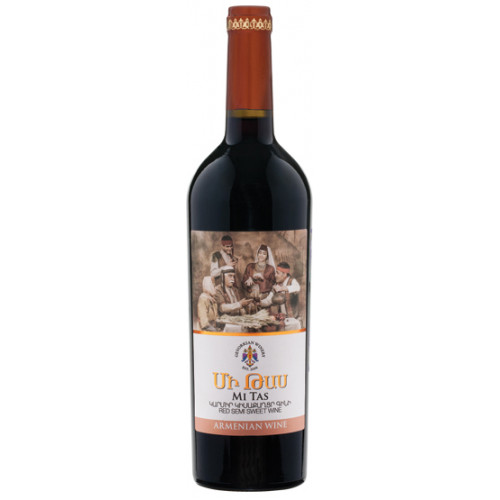 Армянское красное сухое вино Mi Tas 2018