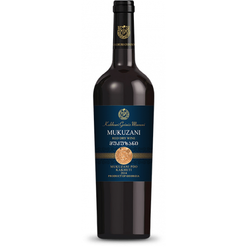 Georgian red dry wine KGM Mukuzani, 750ml