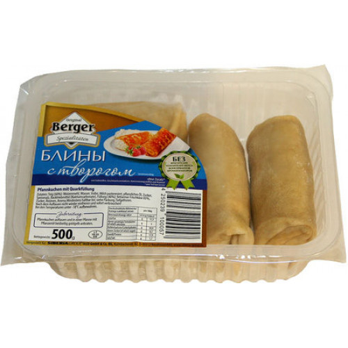 Pancakes with cottage cheese frozen BERGER, 500g