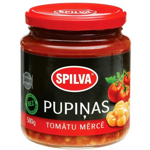 Bonen in tomatensaus Spilva, 580 gr.