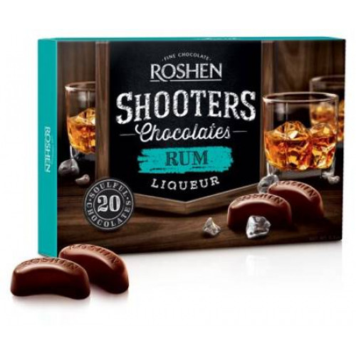 "Chocolates in a box Roshen ""Shooters"" with rum liqueur, 150g"
