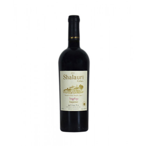 Georgian red dry wine Shalauri Saperavi
