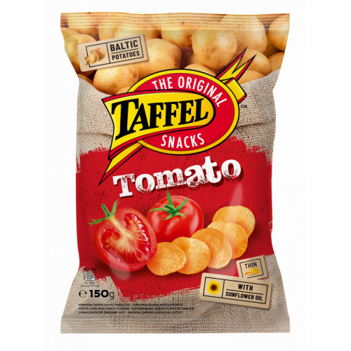 Potato chips Taffel with tomato flavour, 150g