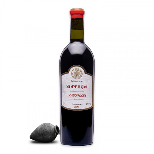 Georgian red dry wine Tavankari Saperavi