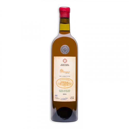Georgian orange dry wine Tchotiashvili Mtsvane