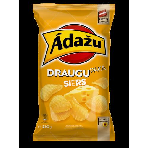 Adazu чипсы со вкусом сыра, 150г