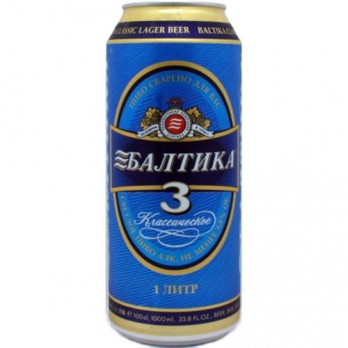 Пиво Балтика 3 в банку 0.9л