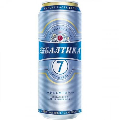 "Пиво Балтика 7 ""Експортне"" в банку 0.45л"