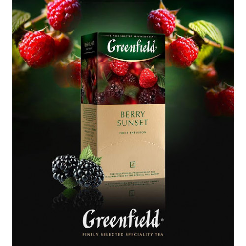 """Чайный фруктовый напиток Greenfield """"Berry sunset"""" в 25 пакетиках по 2г"""