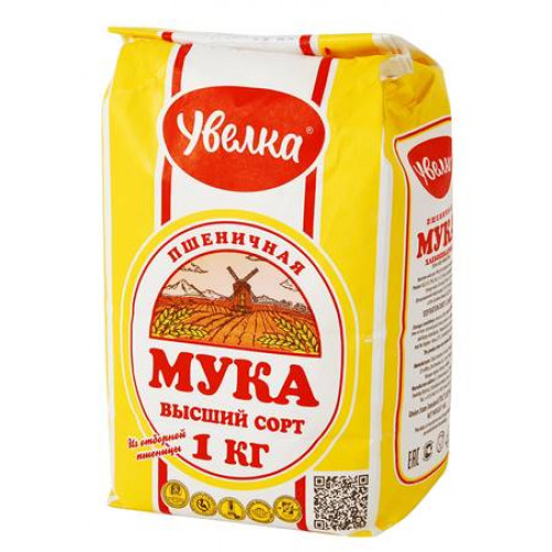 "Wheat flour of the highest grade ""Uvelka"", 1 kg"
