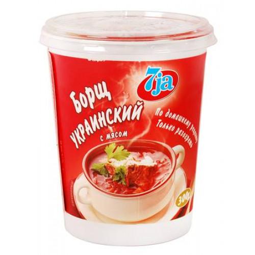 Ready frozen borsch with meat 7ja, 300g