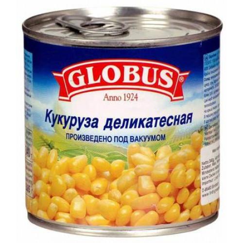 Кукуруза консервированная GLOBUS, 340мл
