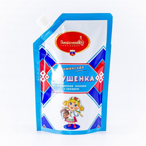 Сгущенное молоко с сахаром в пакете, 250г