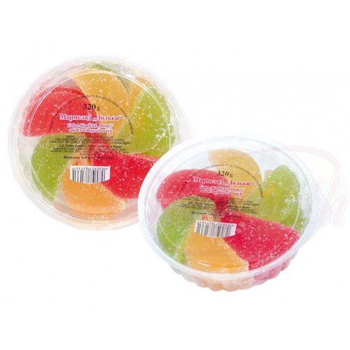 """Jelly candies """"Marmalade slices"""" with fruit taste, 320g"""