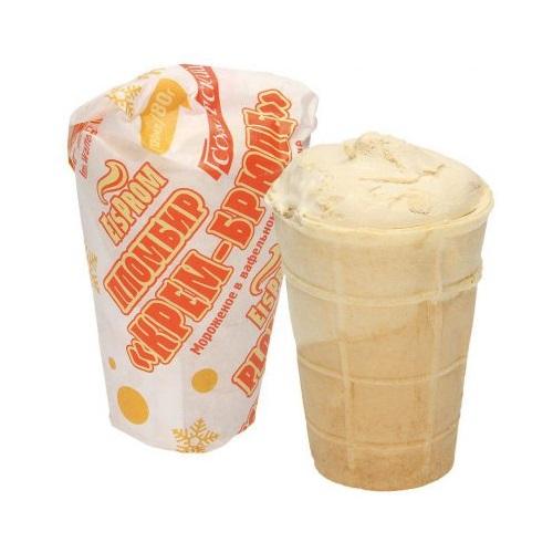 """Мороженое пломбир """"Kрем-брюле"""", 130мл"""