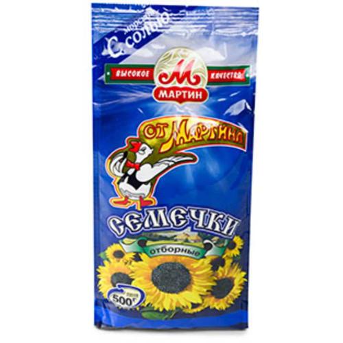 "Sunflower seeds fried with sea salt ""From Martin"", 500g"