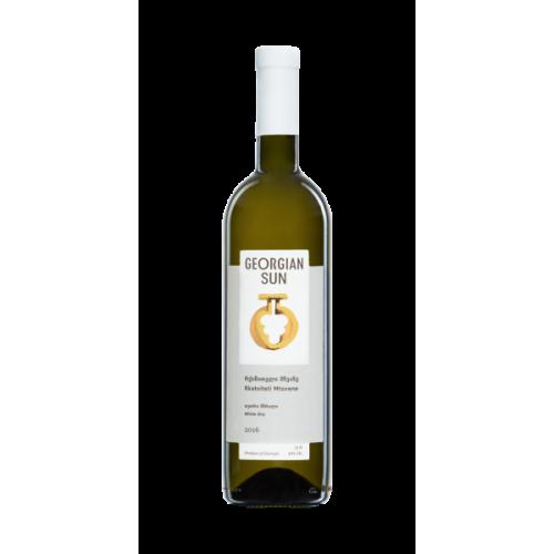 Грузинское белое сухое вино Georgian Sun Mtsvane-Rkatsiteli