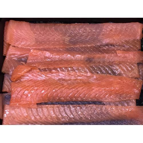 Копченое филе лосося, 200г