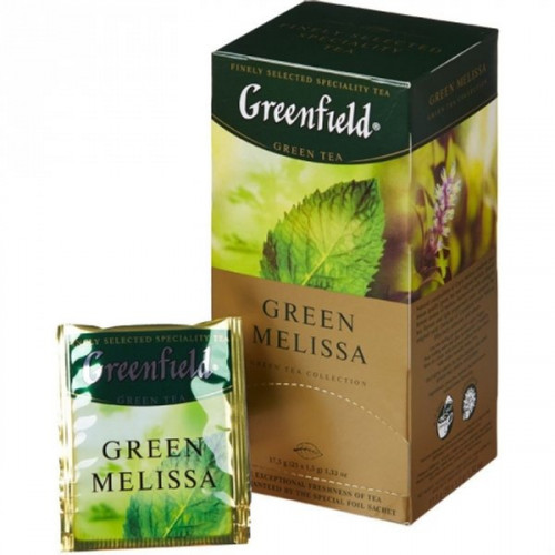 "Greenfield Green Tea ""Green Melissa"" in 25 sachets of 1.5 g"