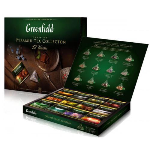 Набір з 12 видів різного чаю Greenfield