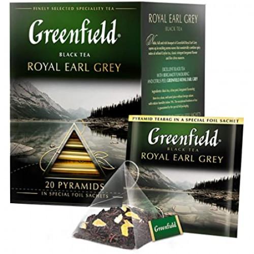 """Чай чорний Greenfield """"Earl Grey"""" в 20 пірамідках по 2г"""