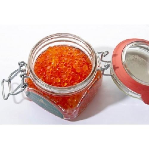 Chum salmon caviar Premium in a glass jar, 250g