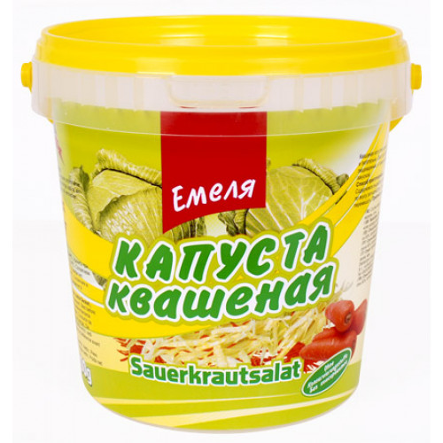 "Sauerkraut of the new harvest ""Classical"" Emelya, 900g"